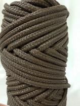 Corda Trançada Polipropileno  Marrom de 6mm - Só Cordas