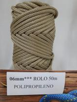 Corda Trançada Polipropileno Rami 6mm - SÓ CORDAS