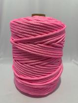 Corda Trançada Polipropileno Rosa 6mm - Só Cordas