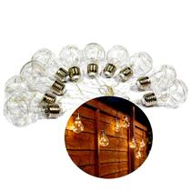 Cordão 10 Lâmpadas Incandescentes C/100 Leds Arame - Bivolt - M&M
