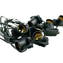 Cordão de Luz 10 Lâmpadas 5 Metros Preto Bivolt Starlux -