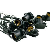 Cordão de Luz 20 Lâmpadas 10 Metros Preto Bivolt Starlux -