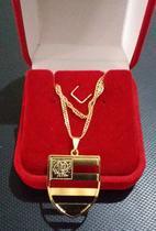 Cordão do flamengo folheado a ouro 18 k - Vns