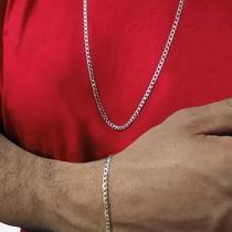 Cordão E Pulseira 3,5 Mm Prata 925 60 Cm Grumet Italiana - Pratas 925 Top