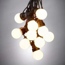 Cordao festao preto c/ 10 lampadas - G-Light