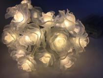 Cordão Luminoso C/ 20 Lâmpadas De Led E Flores Branco Quente - E.Nice Fashion Shop