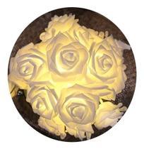 Cordão Luminoso Com 20 Lâmpadas Led Flores Rosa Pilha - Azy Comercial