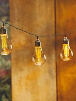 Cordão luminoso led c/ 10 lâmpadas amarelas taschibra -
