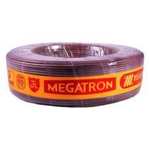Cordão Paralelo Megatron 0,75MMx100M Rolo 300V Marron - Embalagem com 2 Unidades -