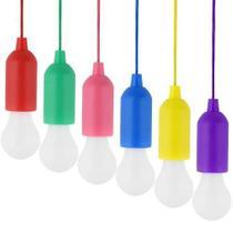 Cordão Pendente Colorido Led C/4 Lâmpadas Luminária Portátil - Não Informada