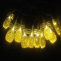 Cordao varal de led pingente de abacaxi amarelo - Infinityled18