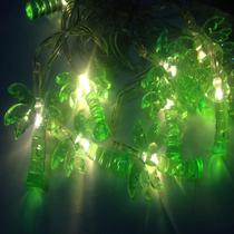 Cordao varal de led pingente de coqueiro verde - Infinityled18