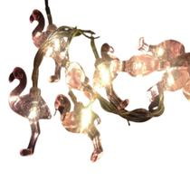 Cordao varal de led pingente de flamingo rosa - Infinityled18