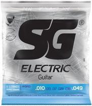Cordas De Guitarra SG 010 049 Hybrid 6666 + Kit de Acessórios IZ1 -