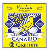 Cordas Para Violão Aço Com Bolinha Giannini Canário -