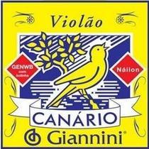 Cordas Para Violão Náilon Canário Giannini (encord 6 Cordas) -