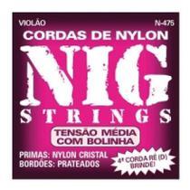 Cordas Para Violão Nylon Cristal Média Tensão N-475 - NIG -