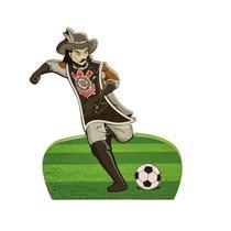 Corinthians Mascote Fica Em Pé 17 Cm 4 Peças - Puzzles Mania