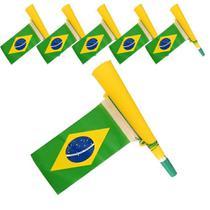 Corneta Bandeira Copa do Mundo AMARELO 5 PEÇAS CBRN06113 - Commerce Brasil