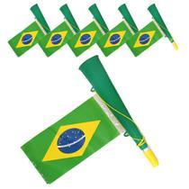 Corneta Bandeira Copa do Mundo VERDE 5 PEÇAS CBRN06120 - Commerce Brasil