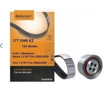 Correia Dentada E Tensor Palio/uno/fiorino 1.0 8v Fire 2003/2008 - Contitech Continental