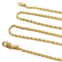 Corrente Cordão Baiano Folheado a Ouro 45 cm - Dril Semijóias