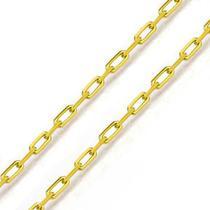 Corrente De Ouro 18k Bandeirante De 1,0mm Com 60cm - Fábrica Do Ouro