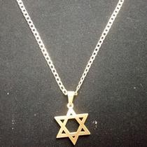 7e96c988b7d41 Corrente Dourada Banhada a Ouro 18k com Pingente Estrela de Davi - Oficina  dos relógios