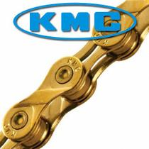 Corrente MTB / SPEED - KMC X9L Ti-N 9V Gold - Dourada -