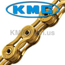 Corrente MTB / SPEED - KMC X9SL Ti-N 9V Gold - Dourada -