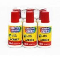Corretivo Líquido 18 ml 6 Unidades Acrilex - Acrilex