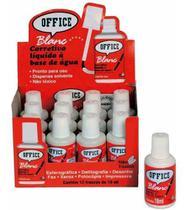 Corretivo Liquido Base Agua 18ml Office Blanc / 12un / Radex -
