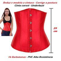 Corset Corpete Corselet Underbust Cinta Modeladora Redutora Acetinado Cores - Fantasy Shopping Brasil
