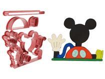 Cortador de Biscoito Mickey Mouse Pasta Americana Pirulito - Artbox3d