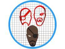 Cortador de Biscoito Os Vingadores Nick Fury Pasta Americana - Artbox3D