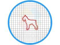 Cortador de Biscoito Schnauzer Cachorro Pasta Americana - Artbox3D