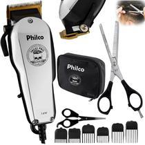Cortador de cabelos 14w profissional e tesoura desbaste nfe - Philco