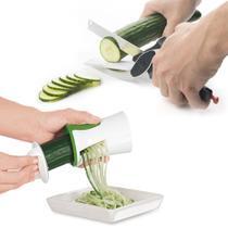 Cortador de legumes verduras espiral tesoura faca fatiador - Interponte