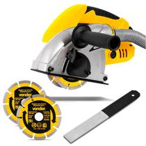 Cortador de Parede Vonder CPV1500 1500W 220V Amarelo com Punho Auxiliar para Conduíte e Tubulação -