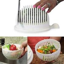 Cortador de Salada Folhas Fatiador Frutas Legumes Verduras Vegetais Escorredor Multifuncional -