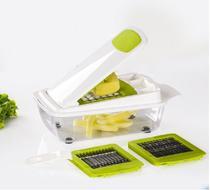 Cortador e Fatiador de Alimentos  Legumes Frutas Queijos com Dispenser 3 tamanhos de corte - Kitchen