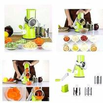 Cortador e ralador manual multifuncional de legumes frios verduras 3 laminas fatiador - Makeda