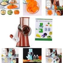 Cortador Fatiador 3 Laminas Legumes Ralador Queijo Verduras -