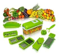 Cortador Fatiador Descascador De Legumes Frutas e Verduras Com 12 PÇS - Além Mar -