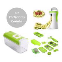 Cortador Fatiador Legumes Kit Ralador Espiral Espaguete Macarrão Legumes - PenselarFun
