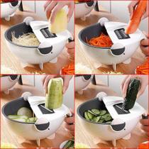 Cortador Fatiador Legumes Salada Frutas Cozinha Alimentos Ralador Escorredor Multifuncional - Ab Midia
