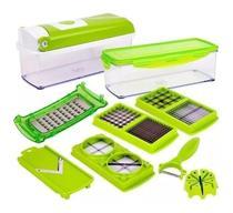 Cortador Fatiador Processador Ralador De Alimentos Frutas Legumes Verduras Queijos Tempero Multiprocessador Nicer Dicer -