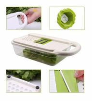 Cortador Fatiador Ralador Picador Legumes Verduras Frutas Alimentos Queijos Temperos Nicer Dicer Plus Multiprocessador -