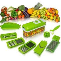 Cortador Legumes Fatiador Picador Alimentos Inox Manual 11 em 1 - PenselarFun