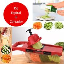 Cortador Legumes Kit Fatiador Juliene Ralador Espiral Espaguete Abobrinha - Penselar Fun